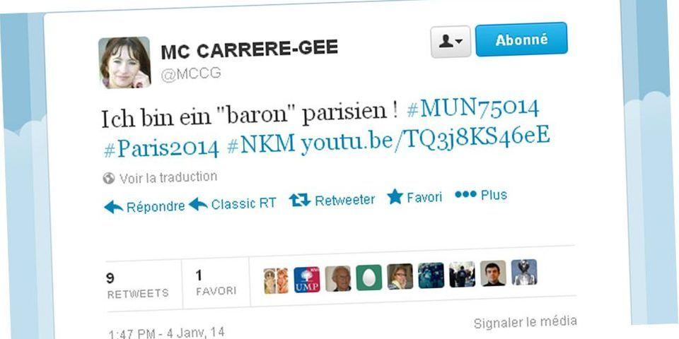 """Marie-Claire Carrère-Gée partage une vidéo pour ironiser sur NKM et les """"barons de l'UMP"""" à Paris"""