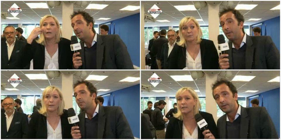 Marine Le Pen annonce que le FN sera partie civile auprès des journalistes du Petit Journal s'ils portent plainte suite aux incidents du 1er mai