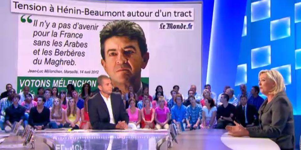 Marine Le Pen assume les faux tracts d'Hénin-Beaumont