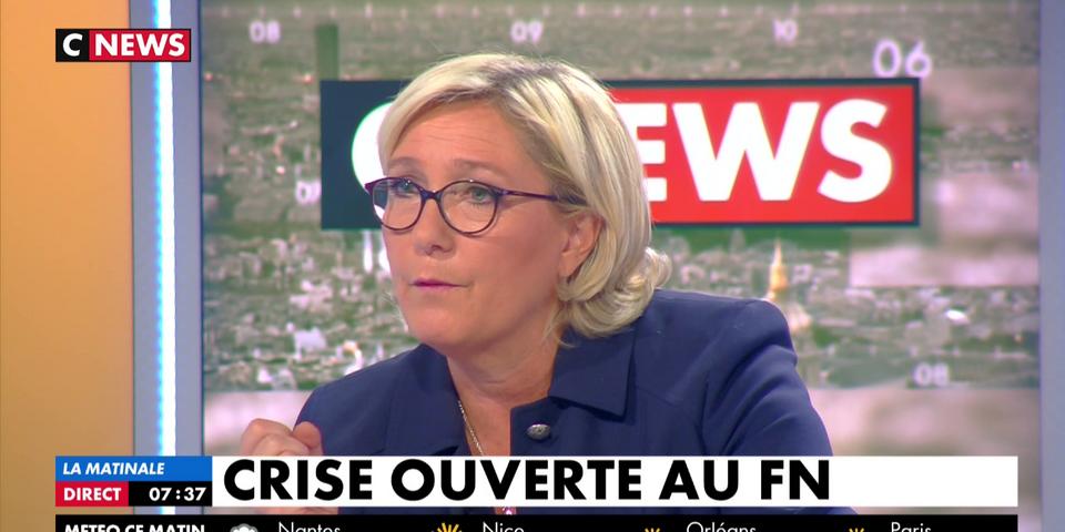 """Marine Le Pen demande à Philippot (et pas à Aliot) de choisir entre le FN et son association parce qu'il """"y a un conflit d'intérêts"""""""