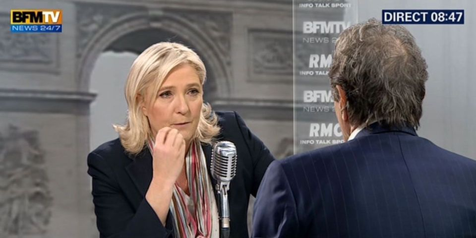 Marine Le Pen diffuse des images d'exécutions de Daech pour se plaindre de Jean-Jacques Bourdin