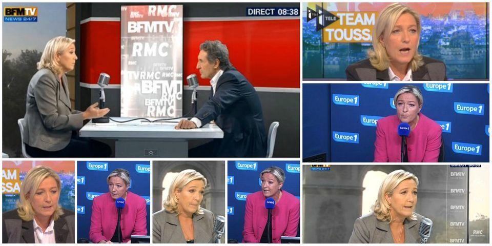 Marine Le Pen en tête des squatteurs de matinales en septembre