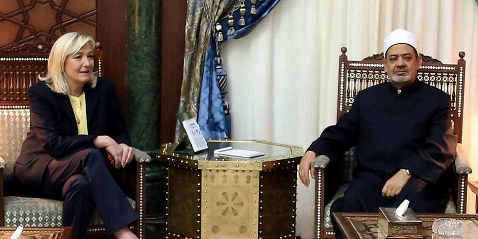 Marine Le Pen enjolive un chouïa sa rencontre au Caire avec le Grand Imam d'Al-Azhar