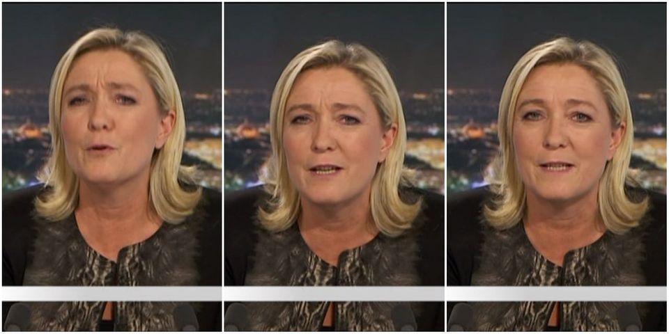 """Marine Le Pen est sûre que """"le culbuto"""" François Hollande sera candidat en 2017"""