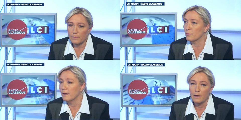 """Marine Le Pen justifie son refus de débattre avec Martin Schulz sur le plateau de """"Des Paroles et des Actes"""""""