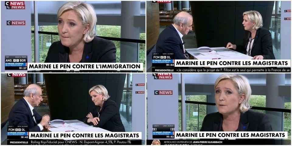 """Marine Le Pen """"ne pense pas"""" ne pas être qualifiée au second tour de la présidentielle"""