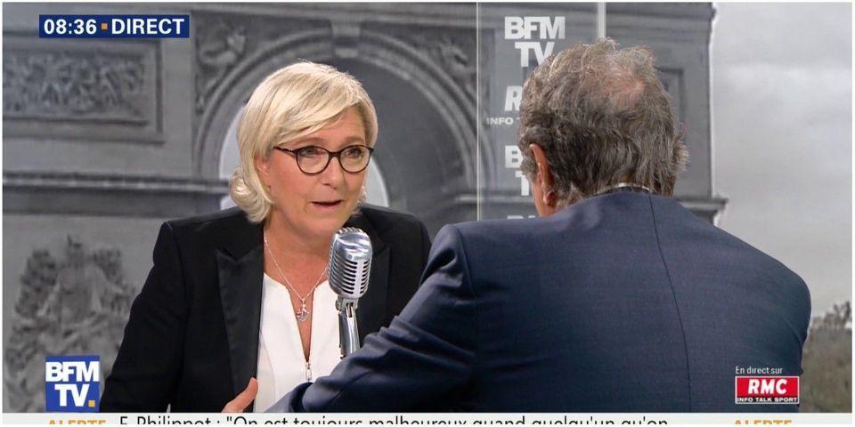 """Marine Le Pen se dit """"bien sûr"""" prête à parler avec Laurent Wauquiez"""