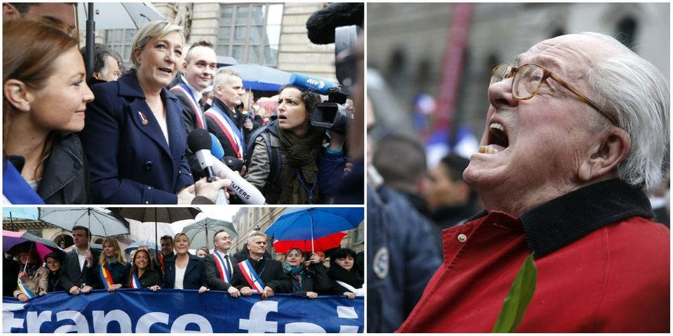 Marine Le Pen vs Jean-Marie Le Pen : l'image de la scission au FN pour le 1er mai