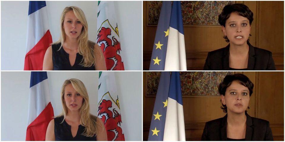 Marion Maréchal-Le Pen et Najat Vallaud-Belkacem s'affrontent par vidéos interposées