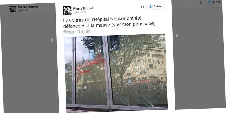 Marisol Touraine dénonce les violences de casseurs contre l'hôpital Necker- Enfants-malades