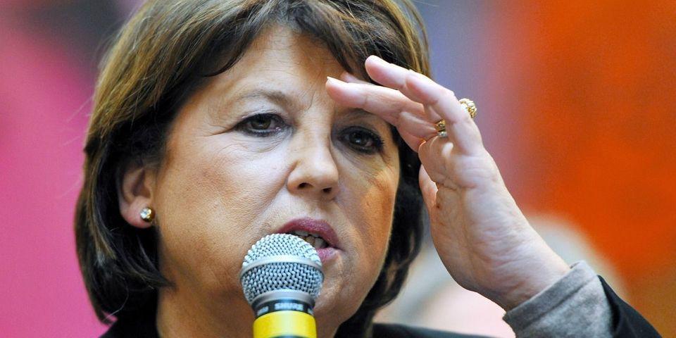 """Martine Aubry juge qu'une candidature de Manuel Valls en 2017 serait une """"catastrophe"""""""