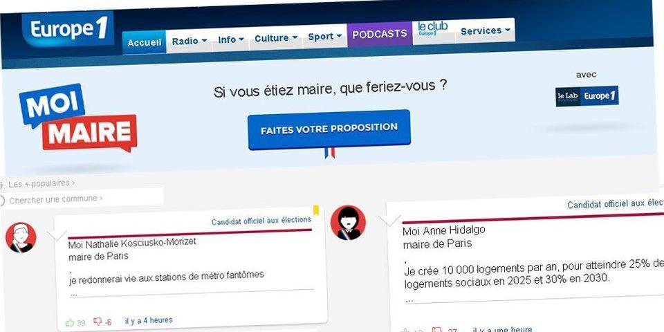 #MoiMaire : le Lab et europe1.fr lancent un site participatif pour les élections municipales