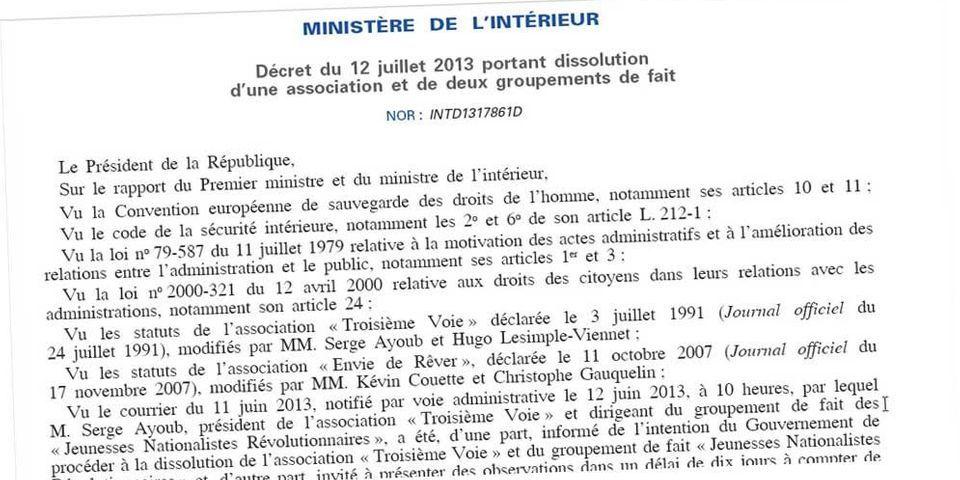 Mort de Clément Méric : trois mouvements d'extrême droite, dont les JNR de Serge Ayoub, dissous