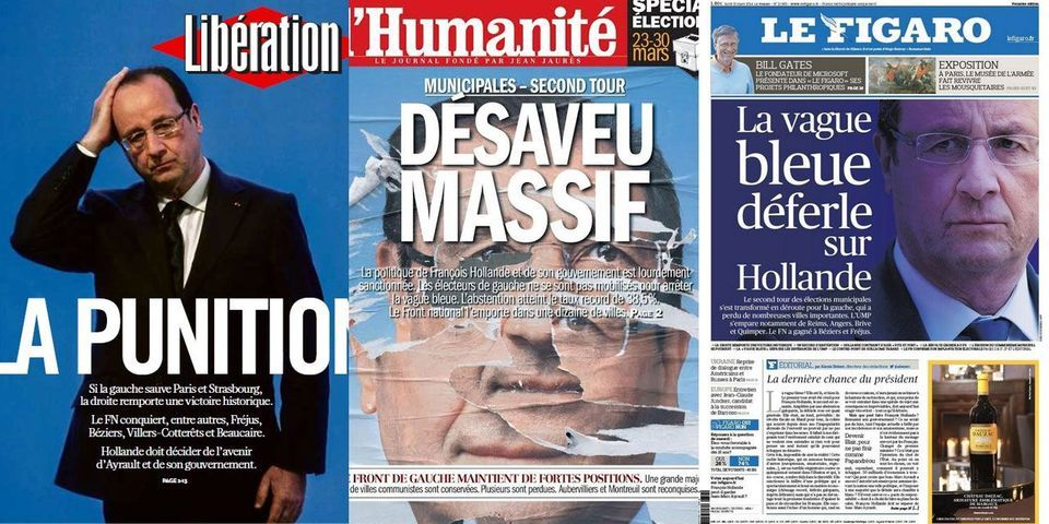 Municipales 2014 : les unes des journaux, après le second tour