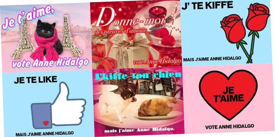 Municipales: Les cartes d'Anne Hidalgo pour la Saint-Valentin