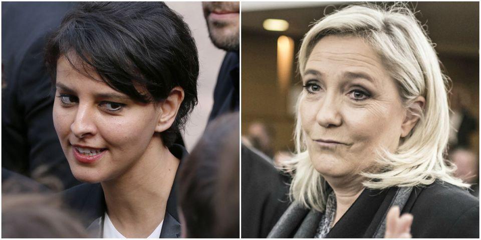 """Najat Vallaud-Belkacem condamne la volonté de Marine Le Pen de mettre fin à la scolarisation gratuite des """"enfants de clandestins"""""""