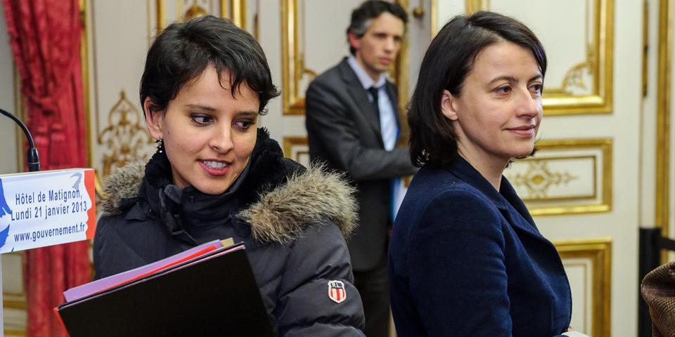 """Najat Vallaud-Belkacem raille le """"manque de considération"""" de Cécile Duflot """"envers sa fonction, ses collègues et les Français"""""""