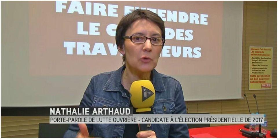 Nathalie Arthaud, porte-parole de Lutte Ouvrière, annonce sa candidature pour 2017