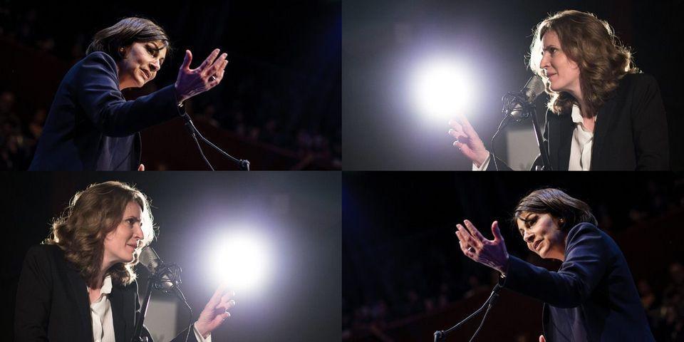 """Nathalie Kosciusko-Morizet et Anne Hidalgo suivies par la photographe de Barack Obama, auteure du cliché """"4 more years"""", pour Le Parisien Magazine"""