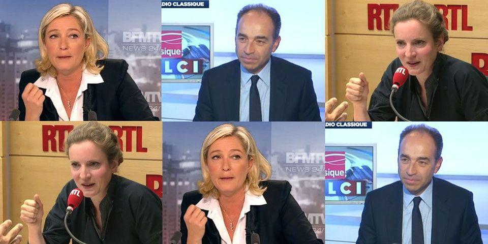 Nathalie Kosciusko-Morizet, Marine Le Pen et Jean-François Copé, plus gros squatteurs de matinales en janvier 2014