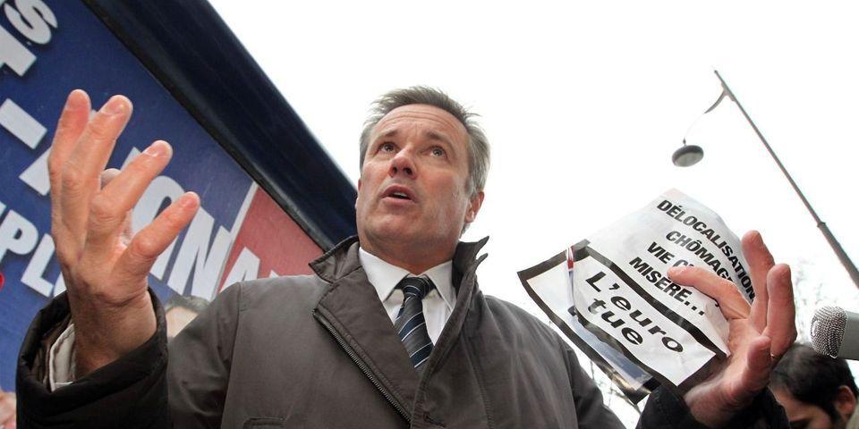 """""""Ne jamais dire jamais"""" : Dupont-Aignan ne ferme pas la porte à un futur rapprochement avec le FN"""