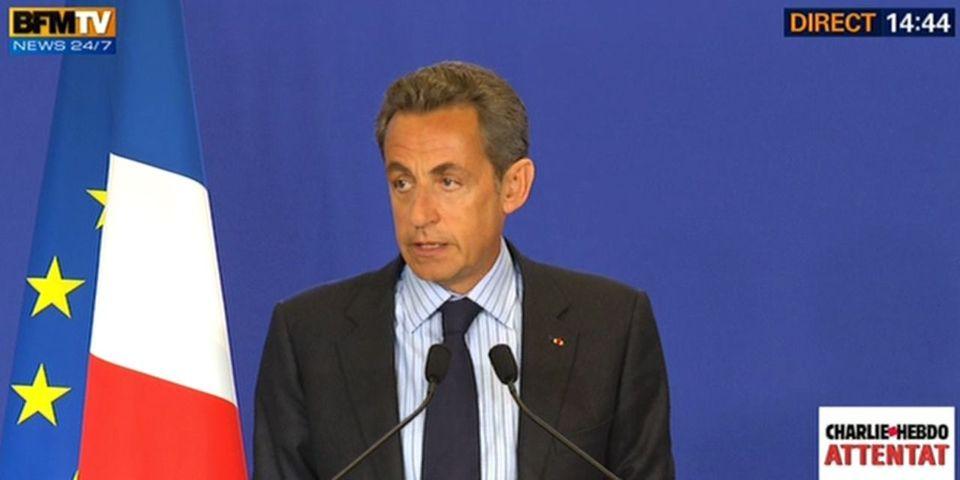 """Nicolas Sarkozy prêt à soutenir le gouvernement pour """"des mesures fortes"""" contre le terrorisme"""