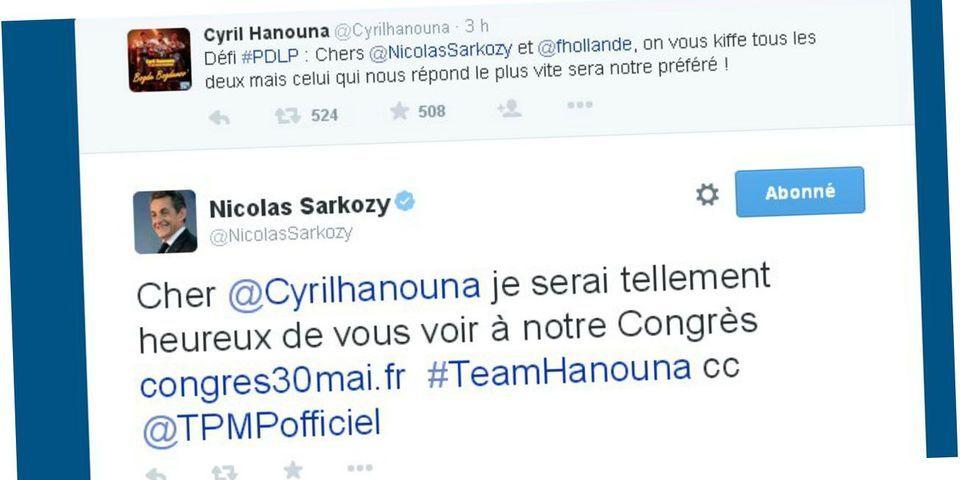 Et là, Nicolas Sarkozy répond sur Twitter au défi de Cyril Hanouna