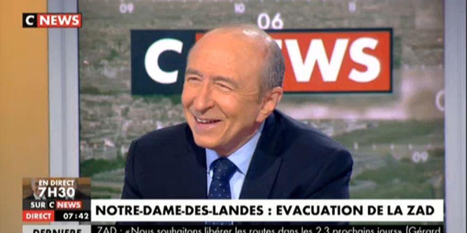 """Notre-Dame-des-Landes : Gérard Collomb évoque les """"machines de guerre"""" du """"camp retranché"""" de la ZAD"""