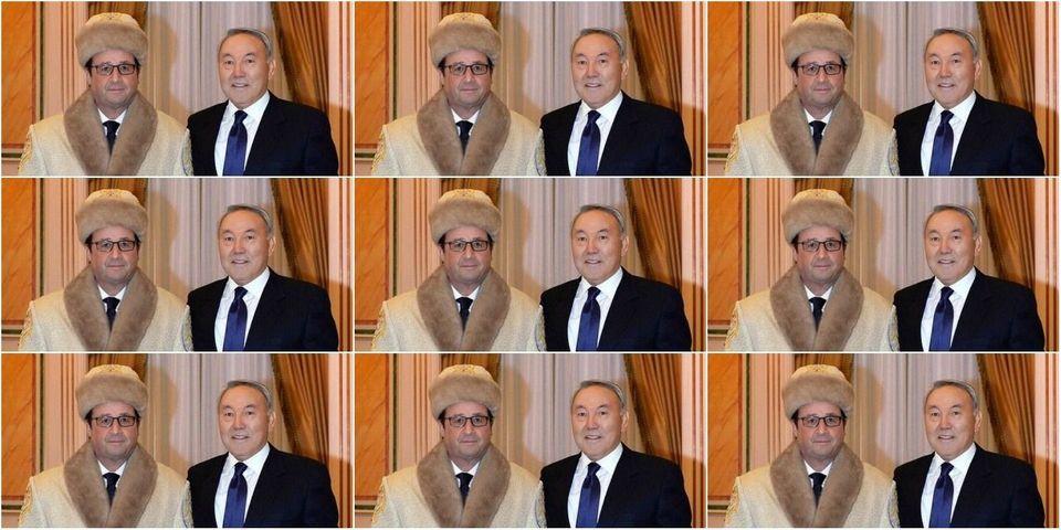 On a retrouvé la chapka offerte à François Hollande par le président du Kazakhstan