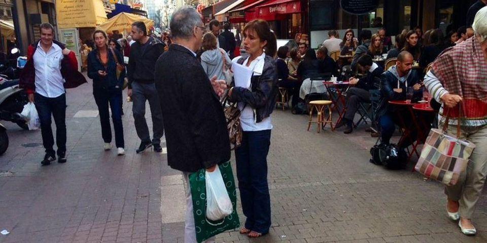 On a tracté avec Marie-Claire Carrère-Gée, dissidente UMP, anti-NKM et amatrice de margarita