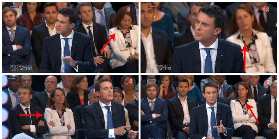"""Où l'on apprend que Ségolène Royal a joué des coudes pour être derrière Manuel Valls dans """"Des paroles et des actes"""""""