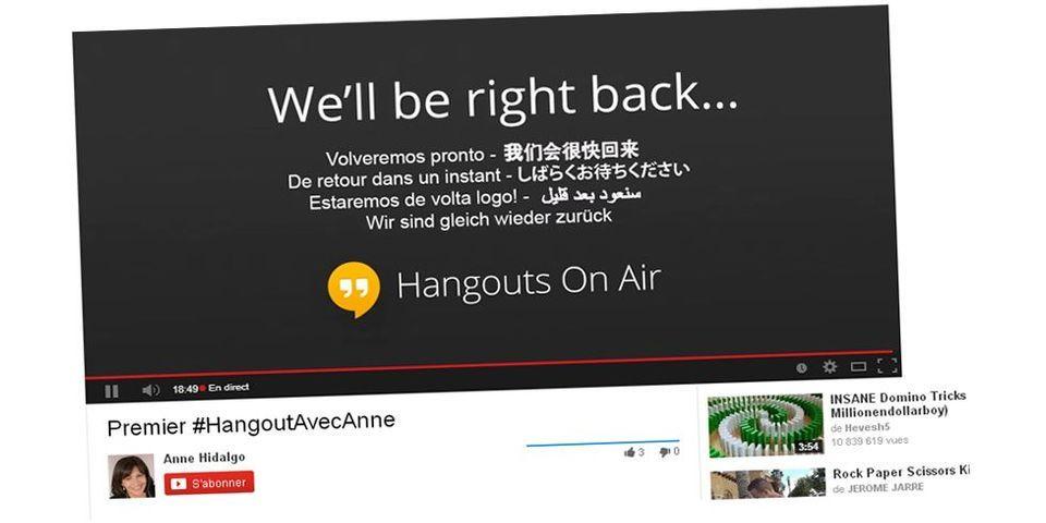 """Oups, Anne Hidalgo et son """"premier Google Hangout politique de la campagne municipale"""" victimes de l'effet démo"""