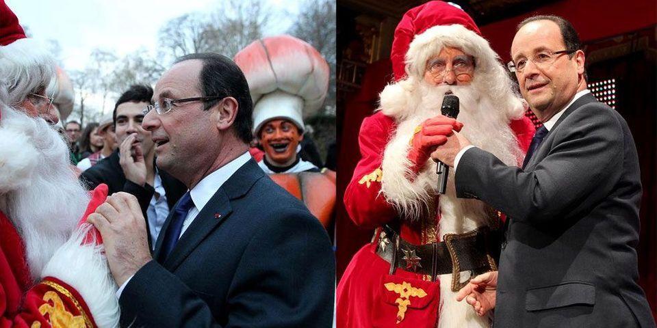 L'Elysée tente de faire disparaître les photos de François Hollande et du Père Noël