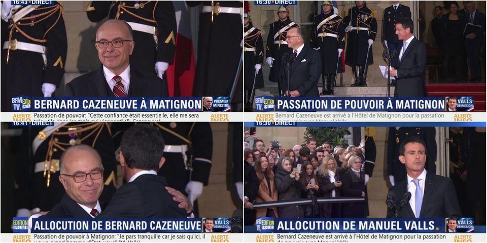 """Passation à Matignon : Valls rappelle ce """"moment de joie"""" qu'était la demi-finale de l'Euro avec Cazeneuve"""