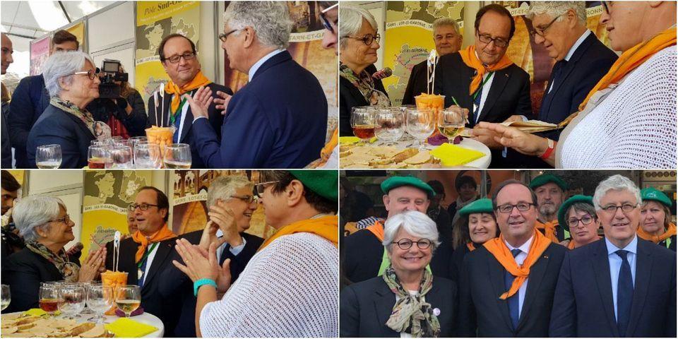 Pendant ce temps-là, François Hollande est intronisé dans la confrérie du melon