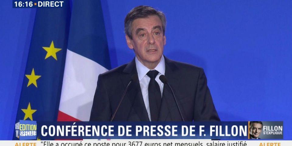 """Penelope Gate : François Fillon """"présente ses excuses aux Français"""" pour avoir fait travailler ses proches"""