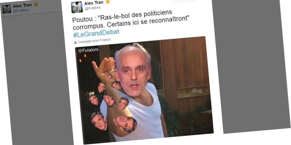 Philippe Poutou est devenu la star des internets pendant ce débat présidentiel interminable