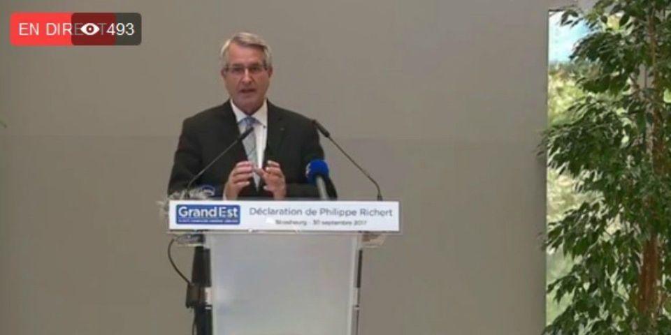 Philippe Richert démissionne de la présidence de la région Grand Est et de l'Association des régions de France