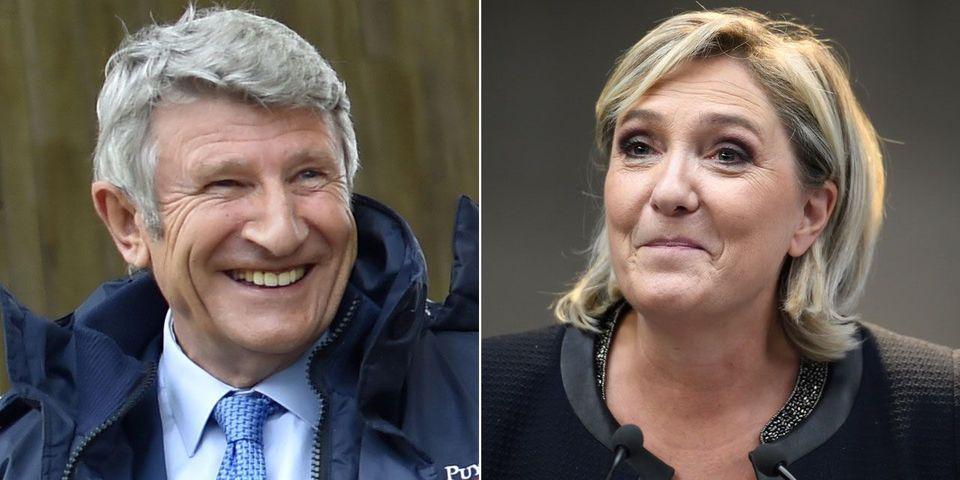 """Philippe de Villiers fait un grand pas vers Marine Le Pen : """"elle a une carrure présidentielle"""""""