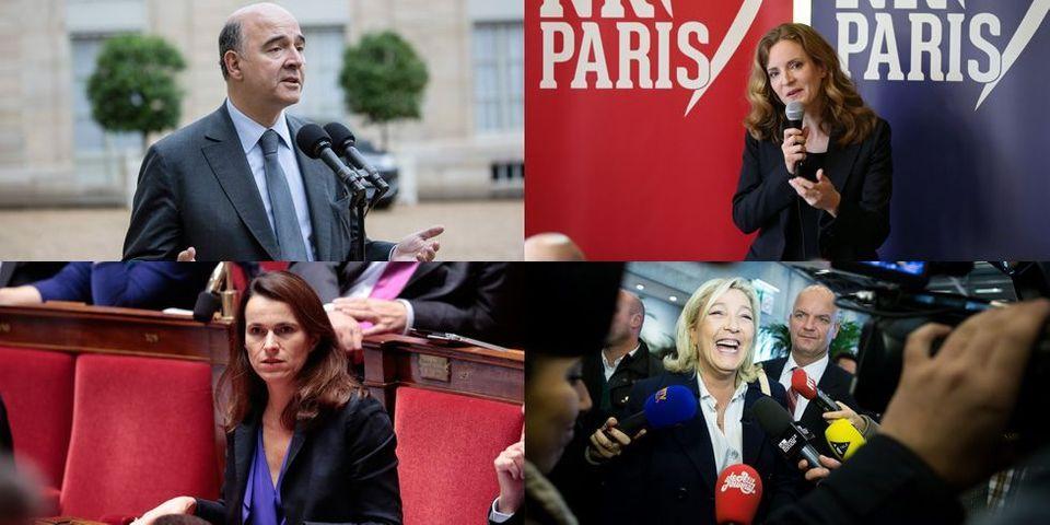 Pierre Moscovici, NKM, Marine Le Pen et Aurélie Filippetti: le multiplex politique du 10 novembre