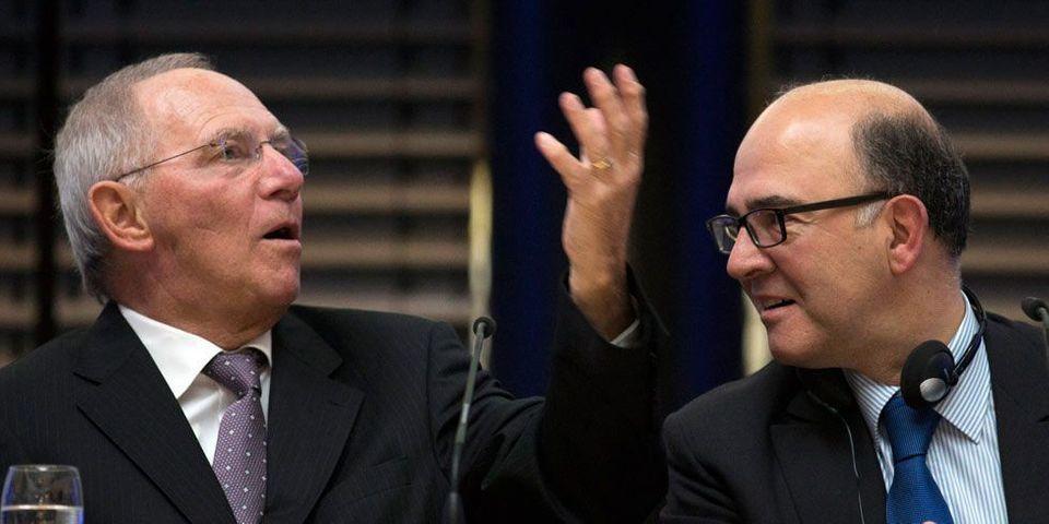 """Moscovici offre une montre de luxe """"made in France"""" au ministre allemand de l'Economie"""
