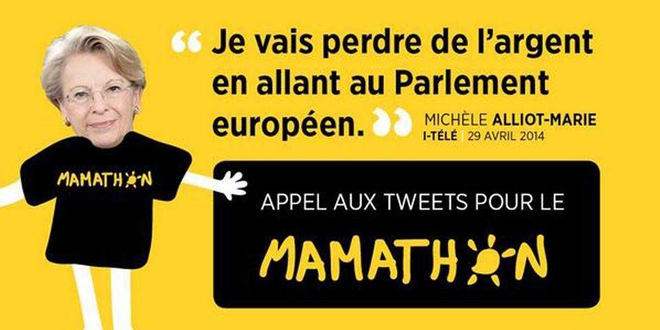 """Pour aider Michèle Alliot-Marie qui perdra de l'argent en allant au Parlement européen, l'UDI jeunes lance le """"Mamathon"""""""