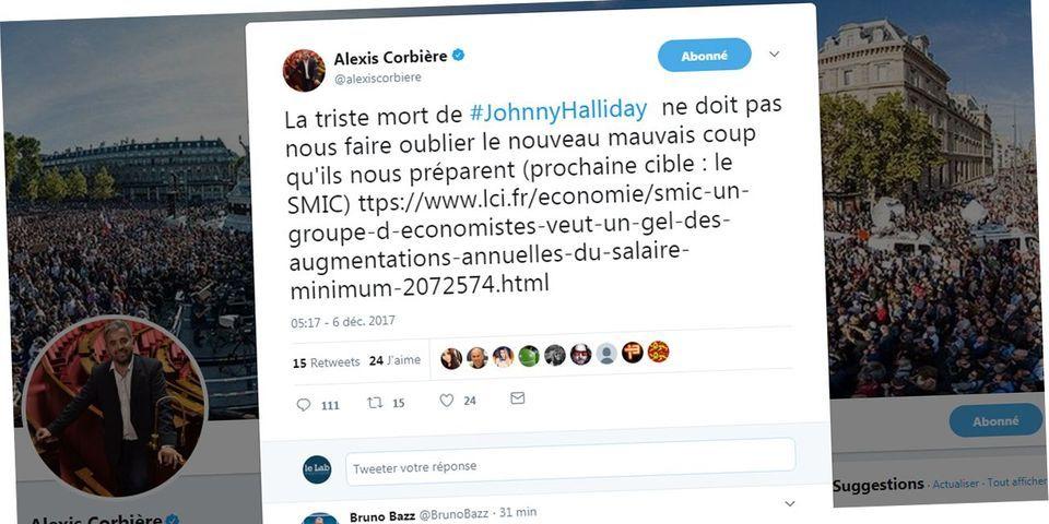 """Pour Alexis Corbière (LFI), la """"triste mort de Johnny Hallyday"""" ne doit pas éclipser d'autres sujets"""