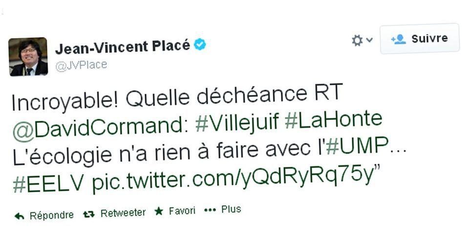 """Pour Jean-Vincent Placé, l'union gauche-droite à Villejuif contre le PCF est une """"déchéance"""""""