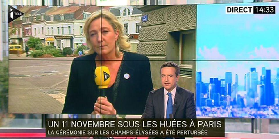 """Pour Marine Le Pen, ce n'était """"ni la date, ni le moment"""" de manifester sur les Champs-Elysées"""