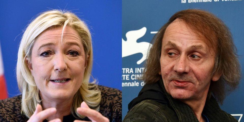 """Pour Marine Le Pen, le dernier livre de Houellebecq """"pourrait devenir une réalité"""""""
