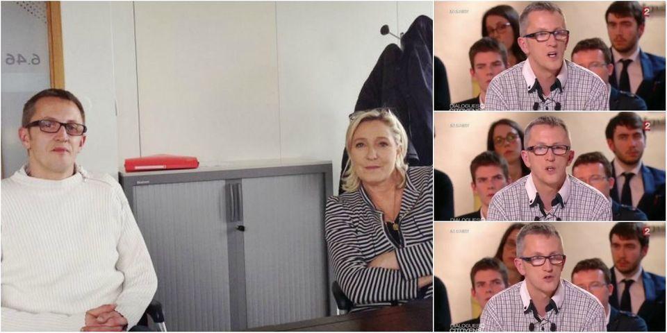 """Pour Marine Le Pen, l'électeur FN qui a interrogé Hollande sur France 2 """"ferait un très bon député"""""""