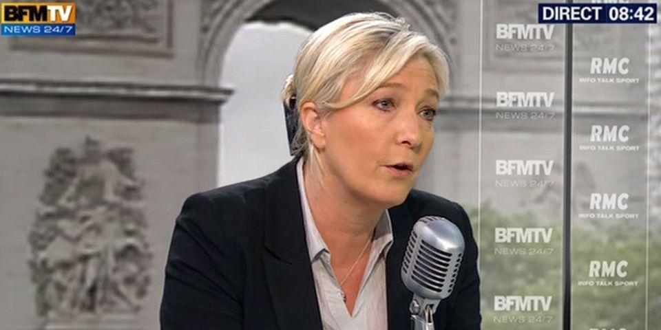 """Pour Marine Le Pen, Nicolas Sarkozy est """"disqualifié"""" par l'affaire Bygmalion dont il """"est le pilier"""""""