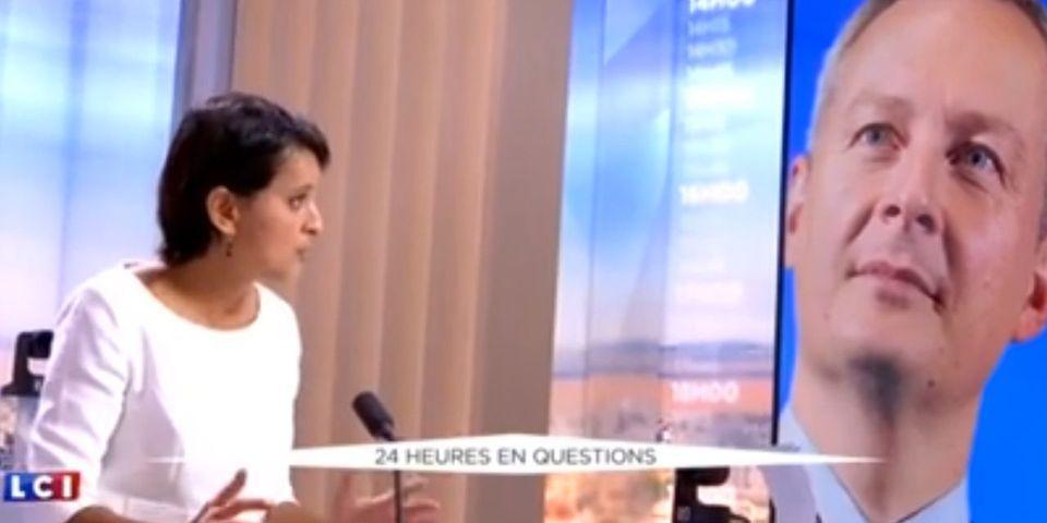 """Pour Najat Vallaud-Belkacem, il n'y a """"plus aucun filtre"""" entre la fachosphère et la droite"""