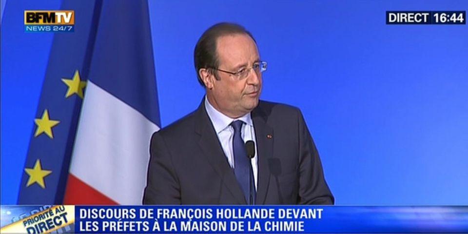 """Pour redresser le pays, François Hollande invite les Français à dire """"du bien de la France"""""""
